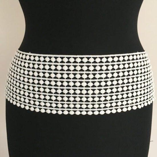Wide Dots Cotton Lace Trim