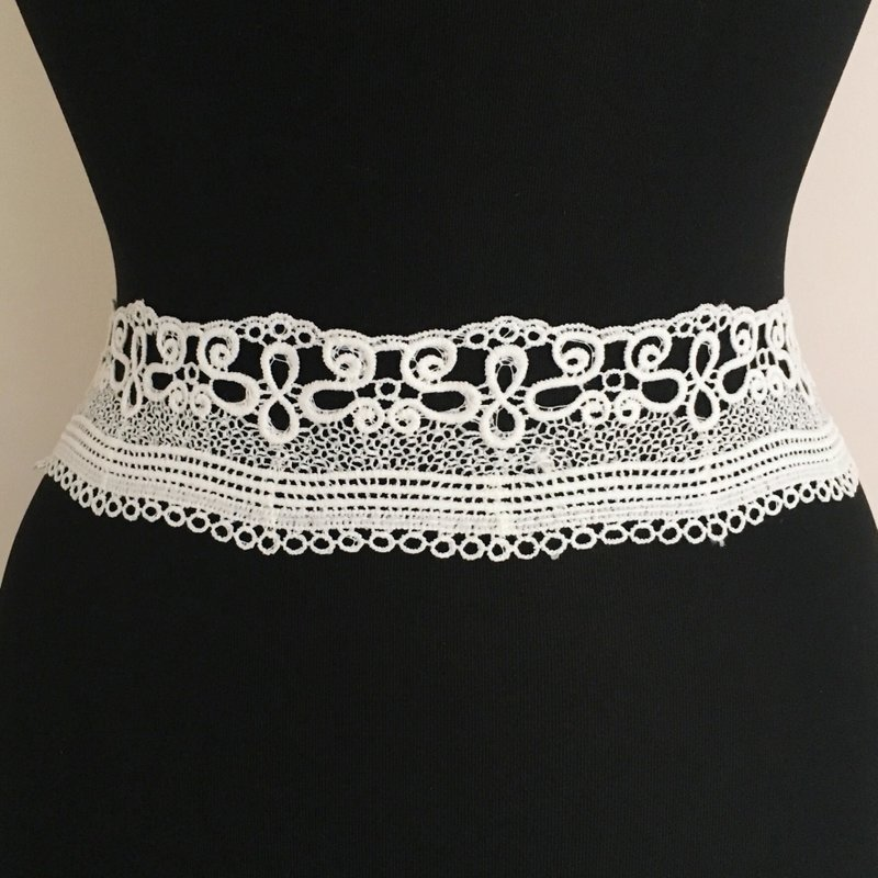 Abstract Cotton Lace Trim