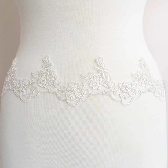 Elia Floral Embroidered Lace Trim