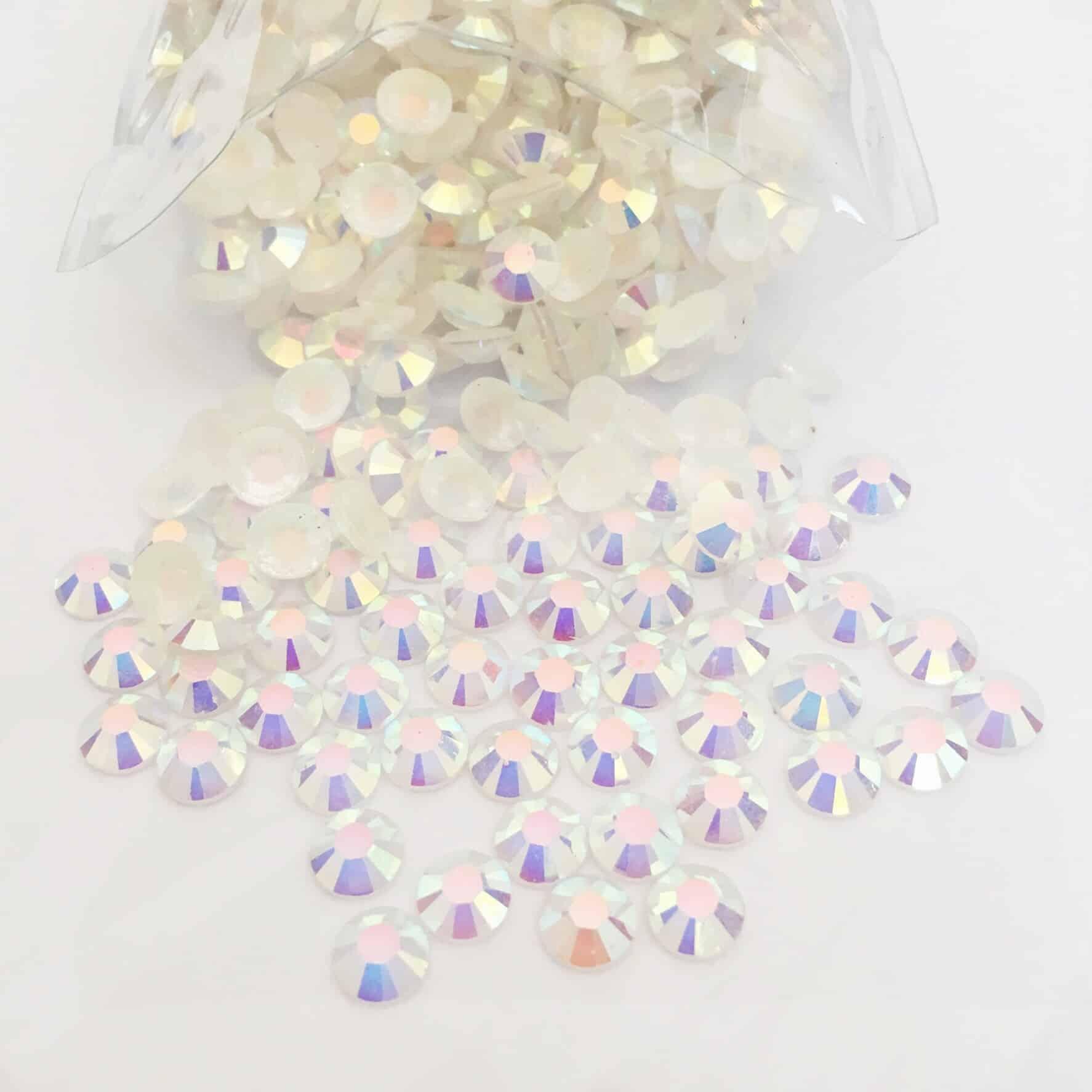 Acrylic Flatback Gem Stones (Clear AB) SS30 (PACK OF 1000)