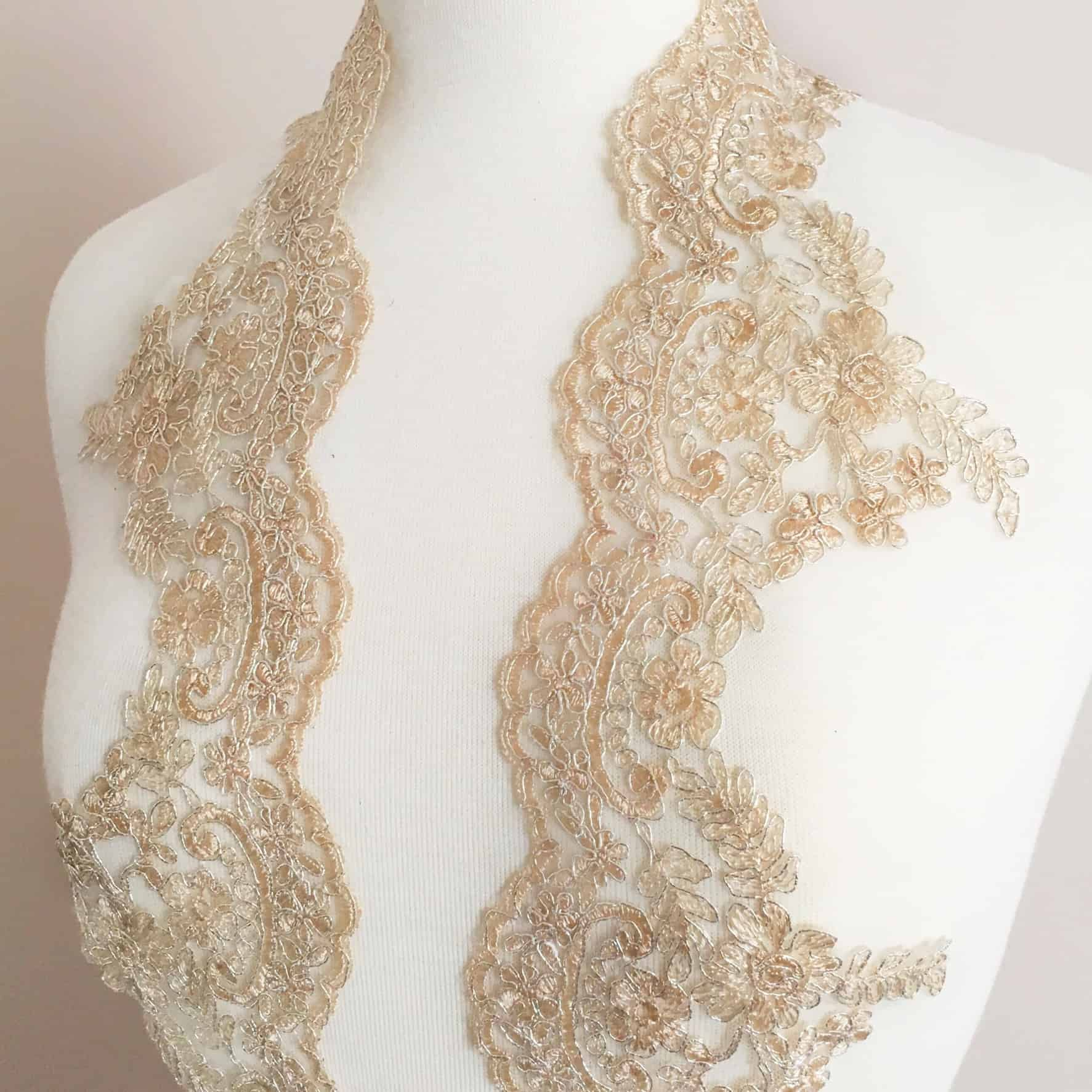 Jillian Re-Embroidered Lace Trim