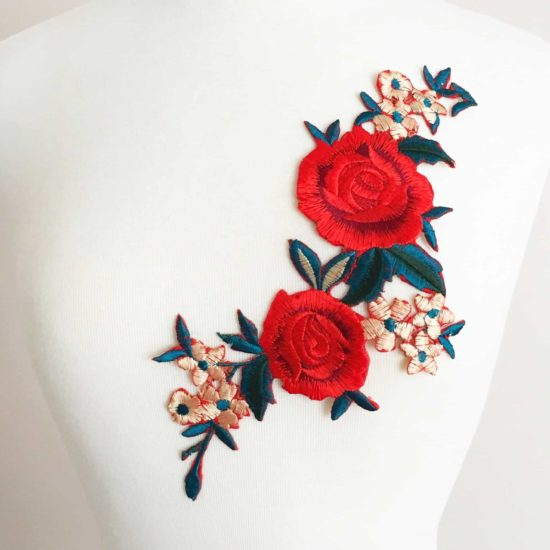 Floral Bouquet Embroidery (Iron-On)