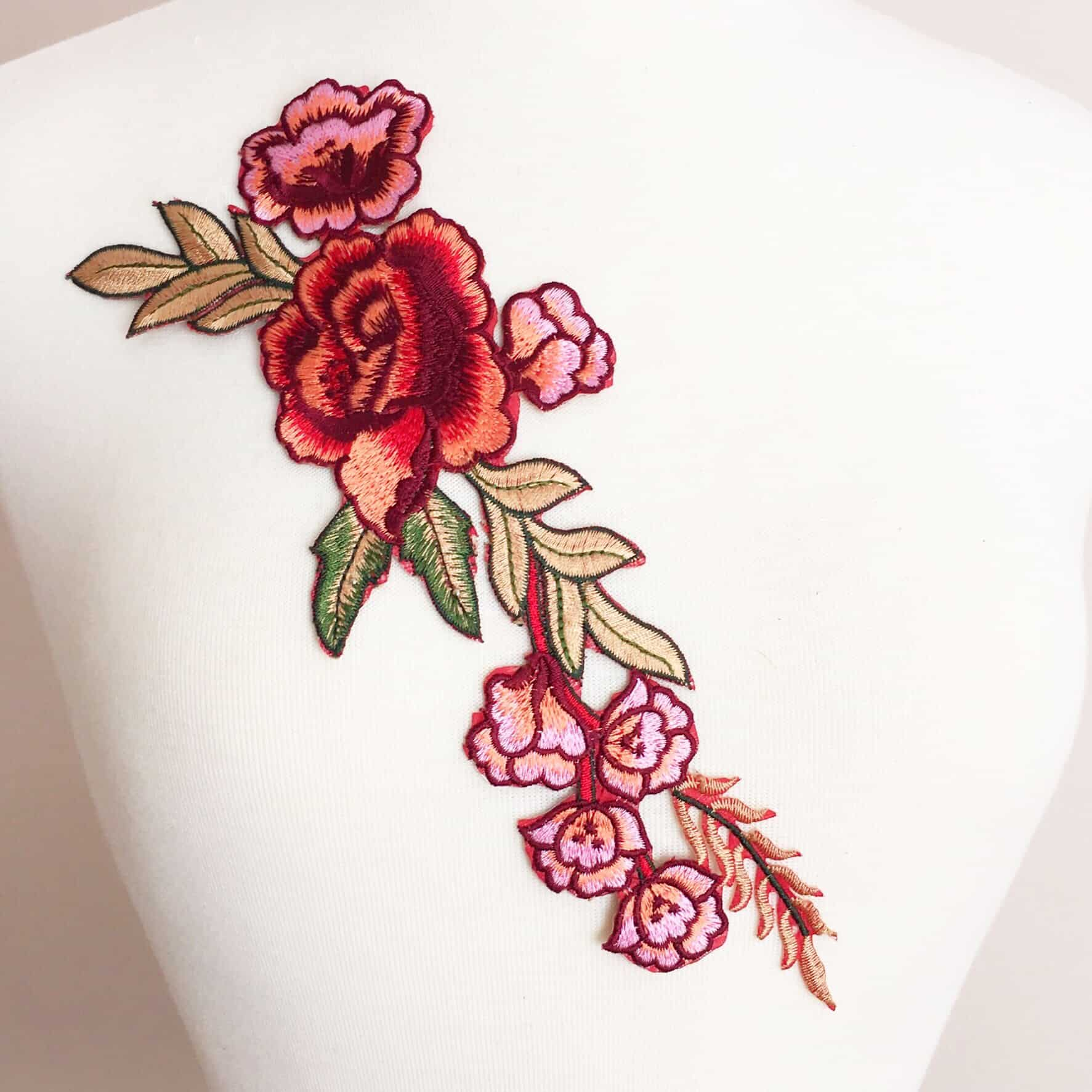 Embroidered Floral Motif (Iron-On)