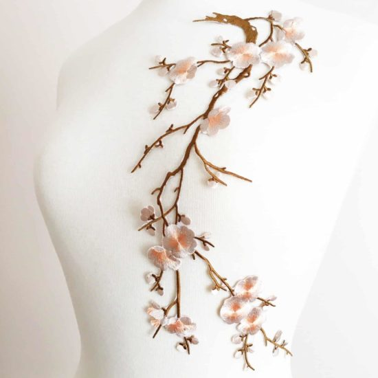 Large Cherry Blossom Embroidery (Iron-On)