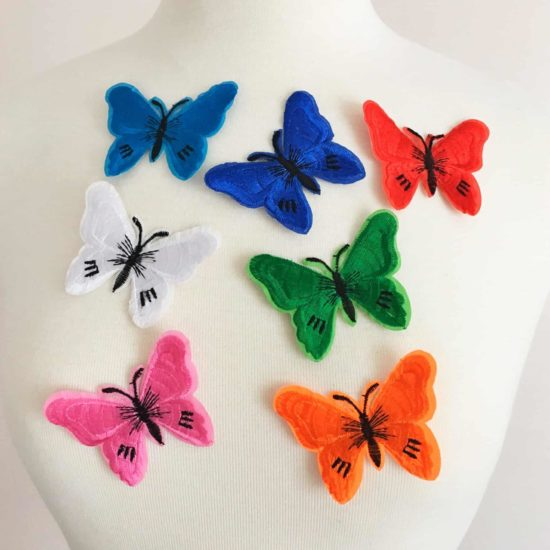 Embroidered Butterfly (Iron-On)
