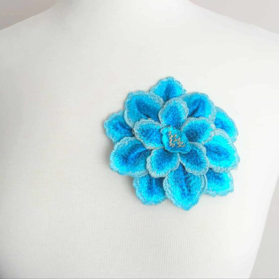 Embroidered 3D Flower