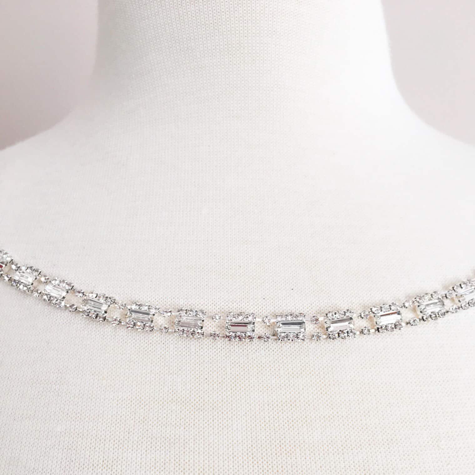 Petit Baguette Crystal Chain