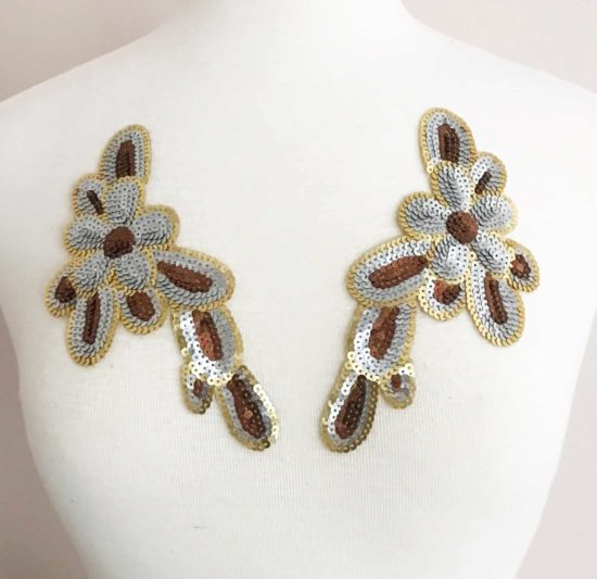 Matching Playful Flower Sequin Applique