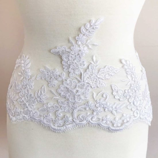 Gardenia Re-Embroidered Lace Trim