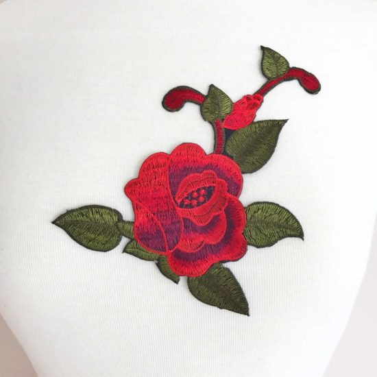Rose Leaf Flower Patch (Iron-On)