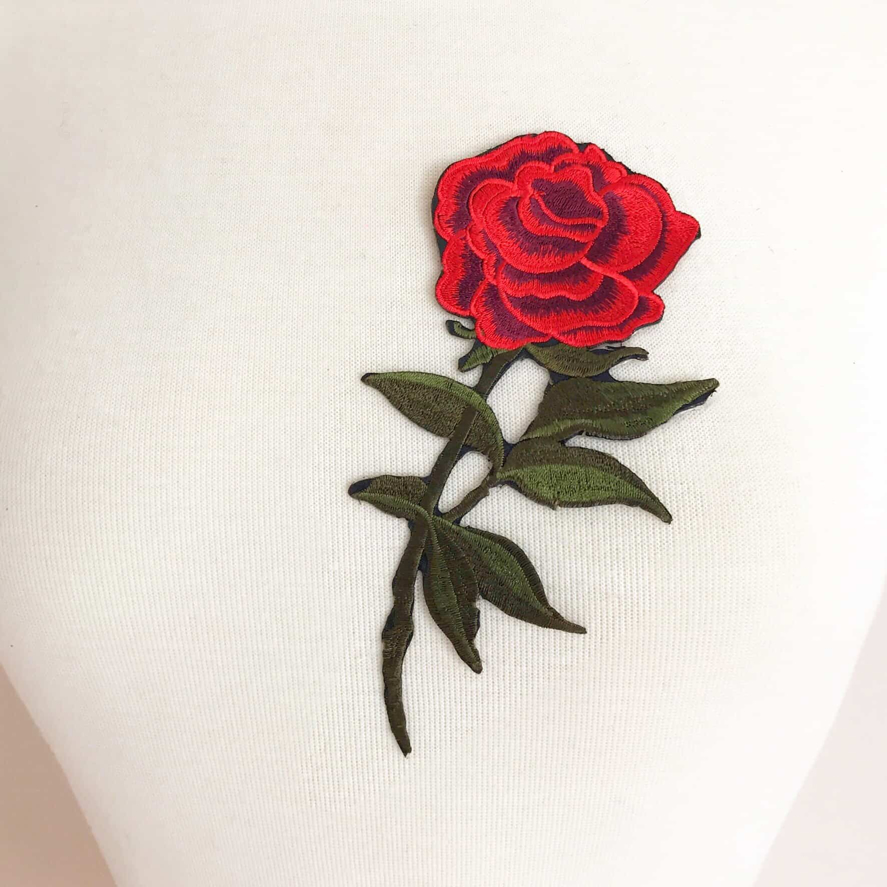 Rose Stem Flower Patch (Iron-On)