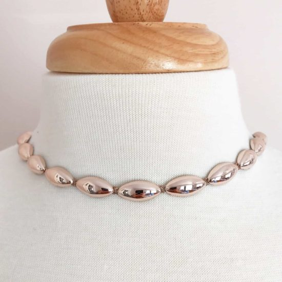 Rose Gold Oval Plastic Chain Trim
