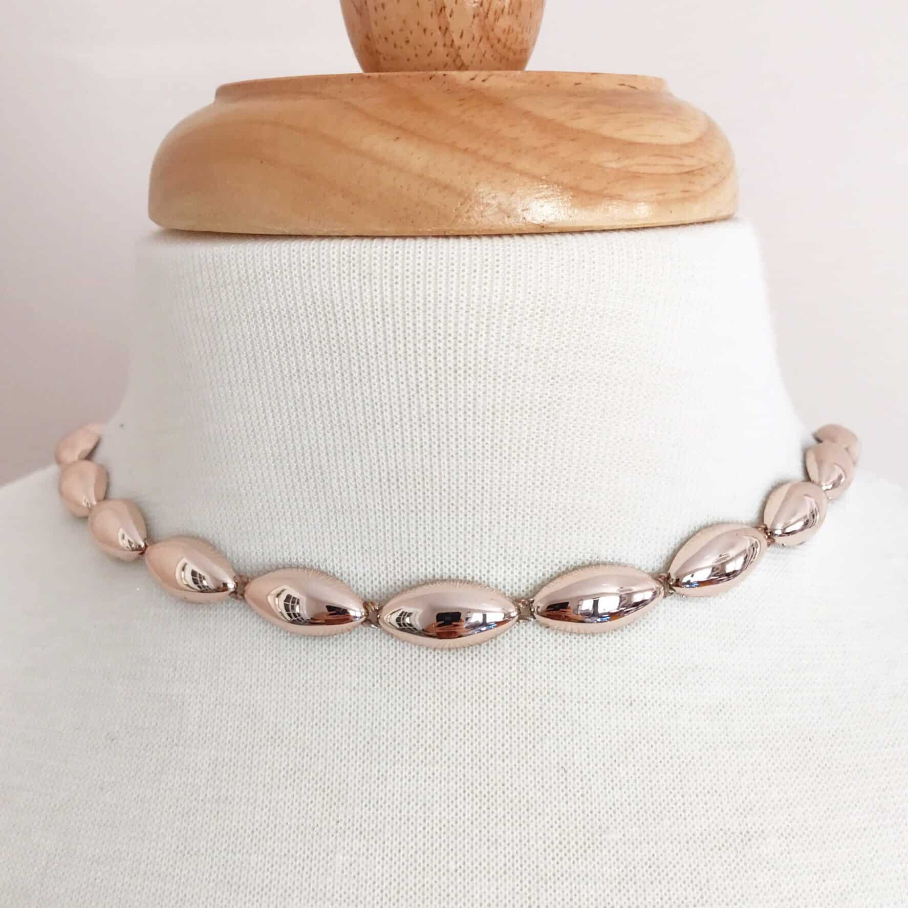 Rose Gold Oval Plastic Chain Trim