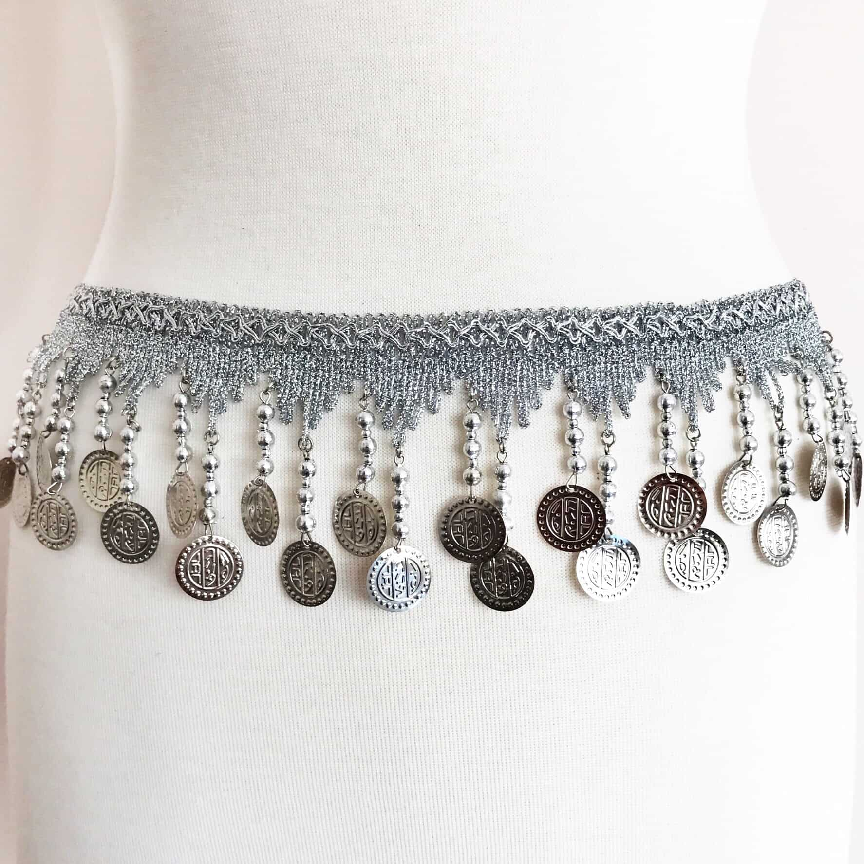 Belly Dance Fringe Trim with Coins