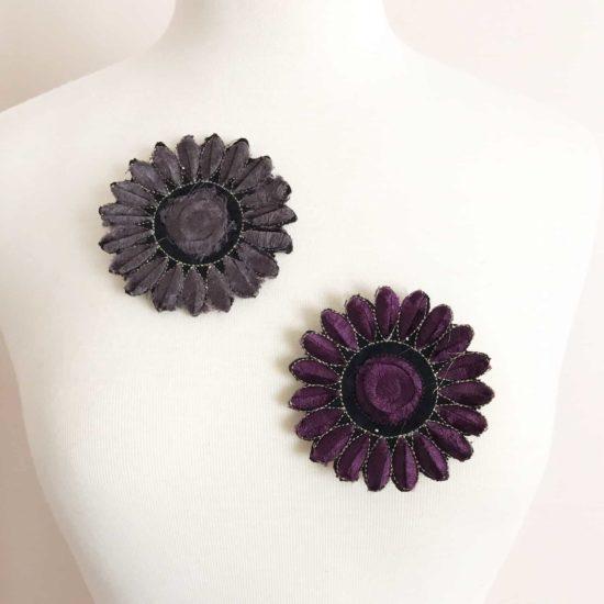 Velvet Daisy Flowers (SOLD INDIVIDUALLY - IRON ON)