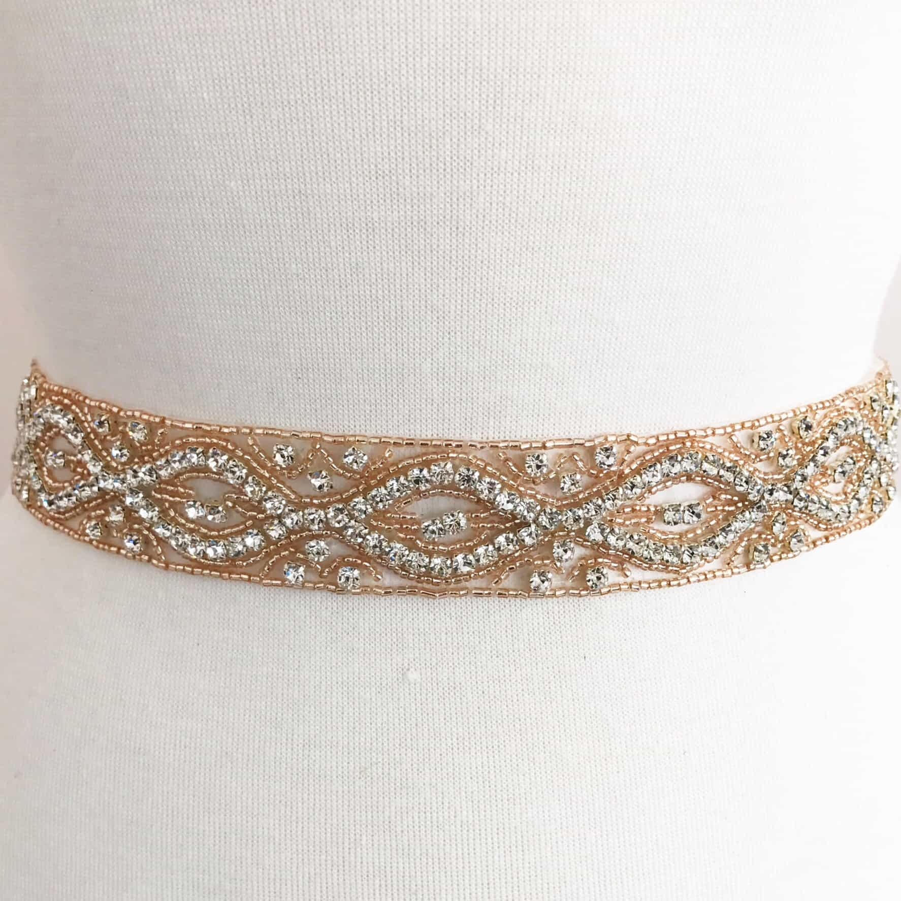 Rose Gold Louise Rhinestone Band