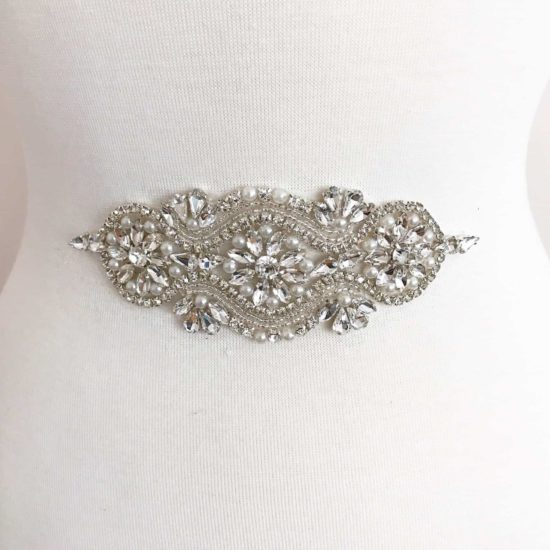 Bettymina Crystal Pearl Applique (Iron-On)