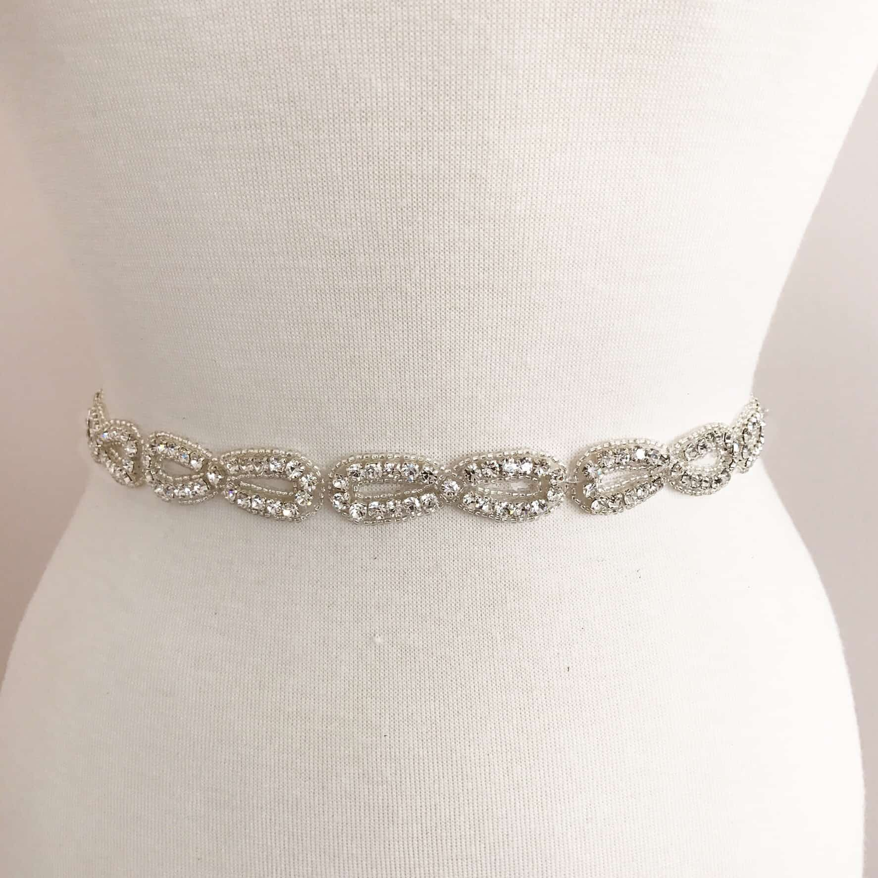 Loop Bow Rhinestone Beaded Trim
