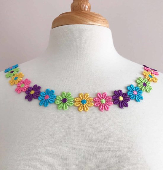 Rainbow Daisy Lace Trim