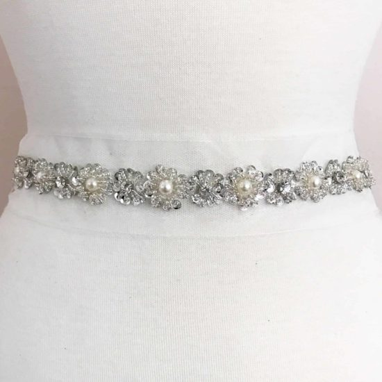 Sequin Pearl Flower Trim