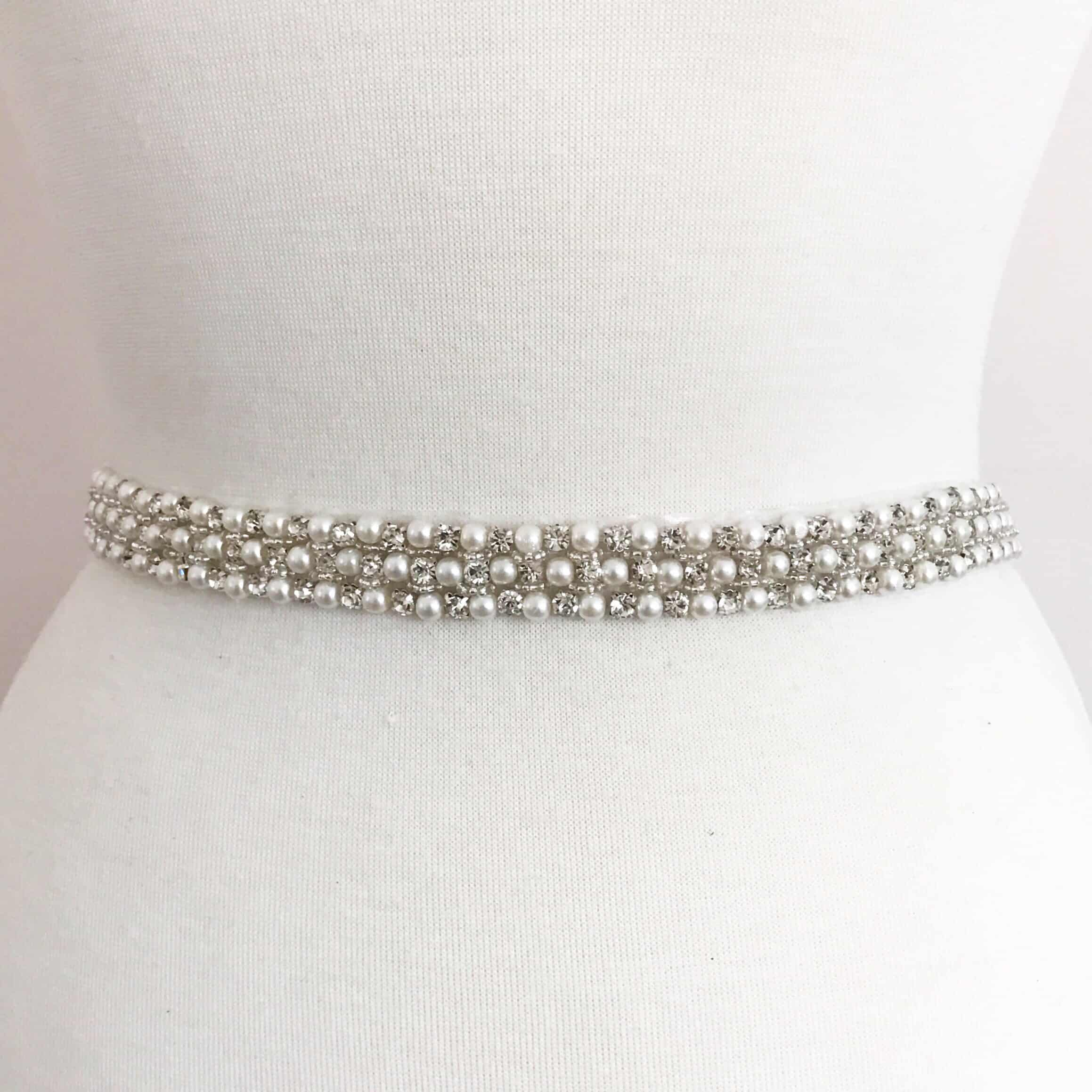 *SALE* Pearl Luxe Rhinestone Trim (Iron-On)