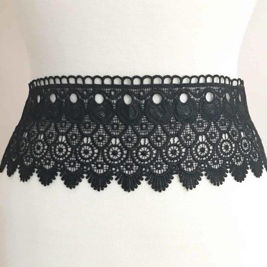 """4"""" Venise Border Lace (Black)"""