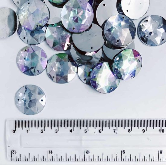 *CLEARANCE* Acrylic Stones 20mm Round CLEAR AB (150PCS)