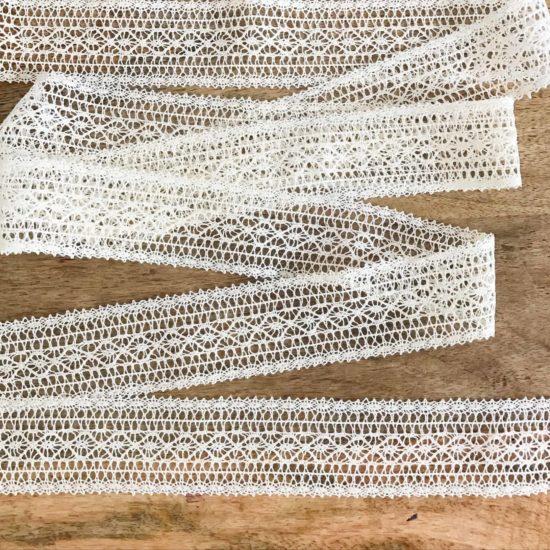 Natural Cotton Crochet Lace Border Trim (8 Yards)