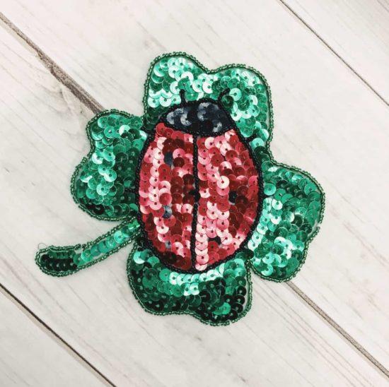 Ladybug Clover Sequin Applique