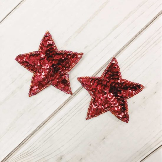 Red Sequin Star (Sold as set of 2)
