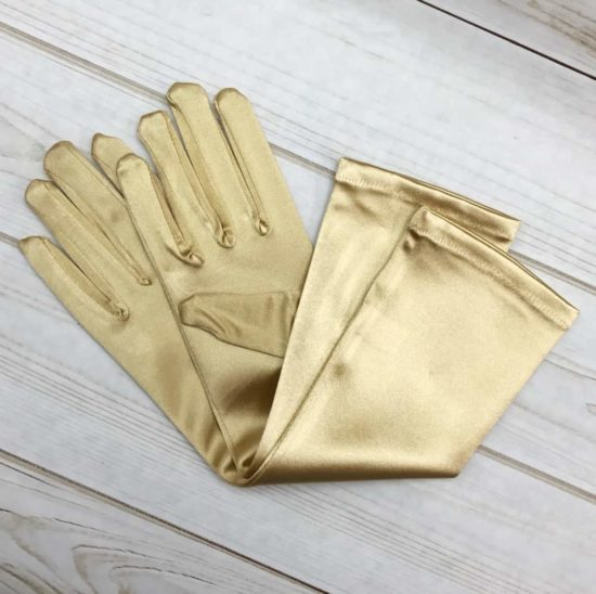 Medium Elbow Length Satin Gloves (Choose Your Color)