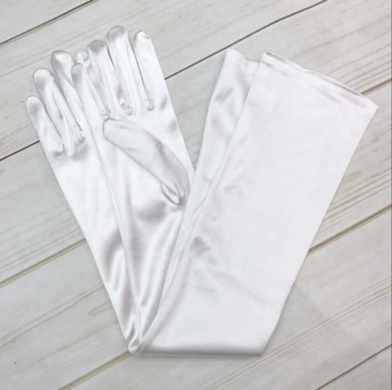 Long Opera Length Satin Gloves (Choose Your Color)