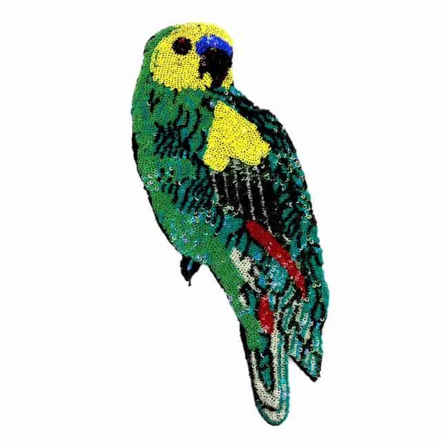 Parrot Sequin Applique (Stitch or Glue)