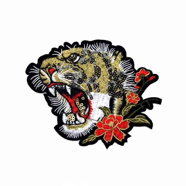 Lion Embroidered Applique (Iron-On)