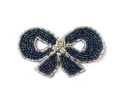 Small Beaded Bow/Rhinestone
