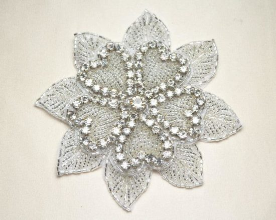 Hearts and Petals Rhinestone Applique