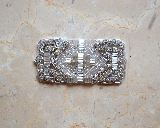 Lulu Rhinestone Rectangle Applique