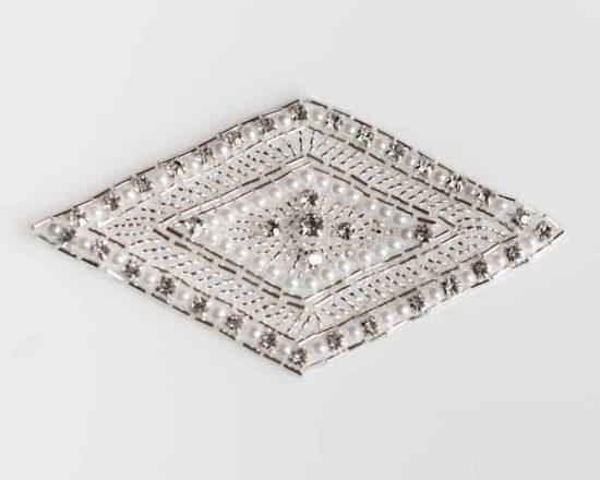 Rhinestone Pearl Rhombus Applique