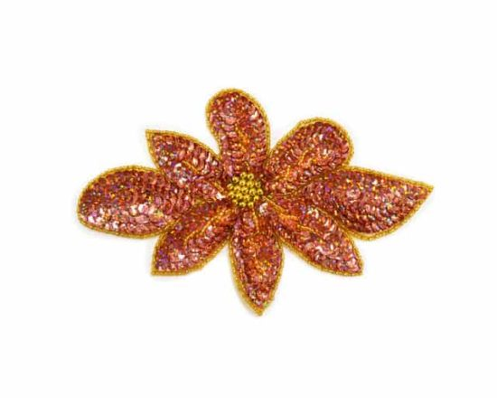 Sequin Long Flower Applique