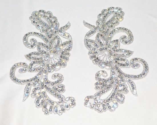 Matching Cora Large Rhinestone Applique