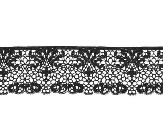 """2.5"""" Venise Border Lace (Black)"""