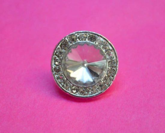 Classic Round Rhinestone Button
