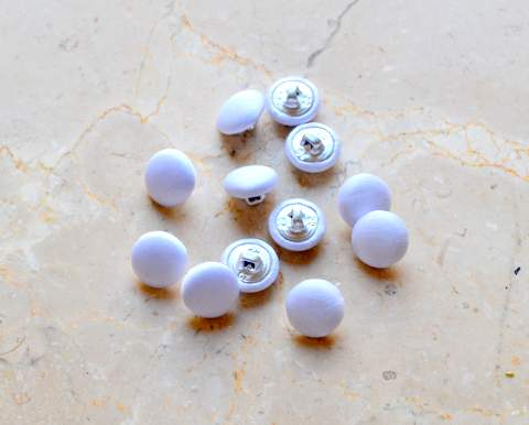 12mm Satin Covered Buttons (12Pcs)