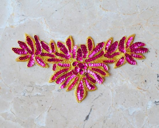 Embroidered Sequin Flower Center