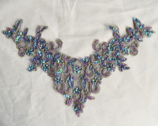 Embroidered Sequin Neckpiece