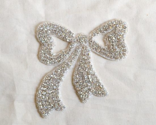 Take a Bow Rhinestone Applique