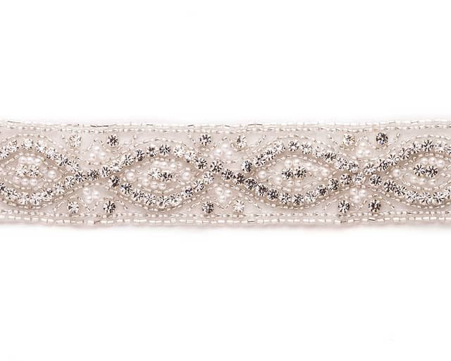 Louise Rhinestone Band with Pearls