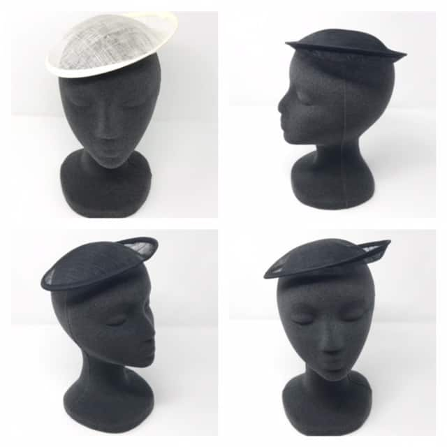 Black Small Pillbox Hat Base for Dance Costumes