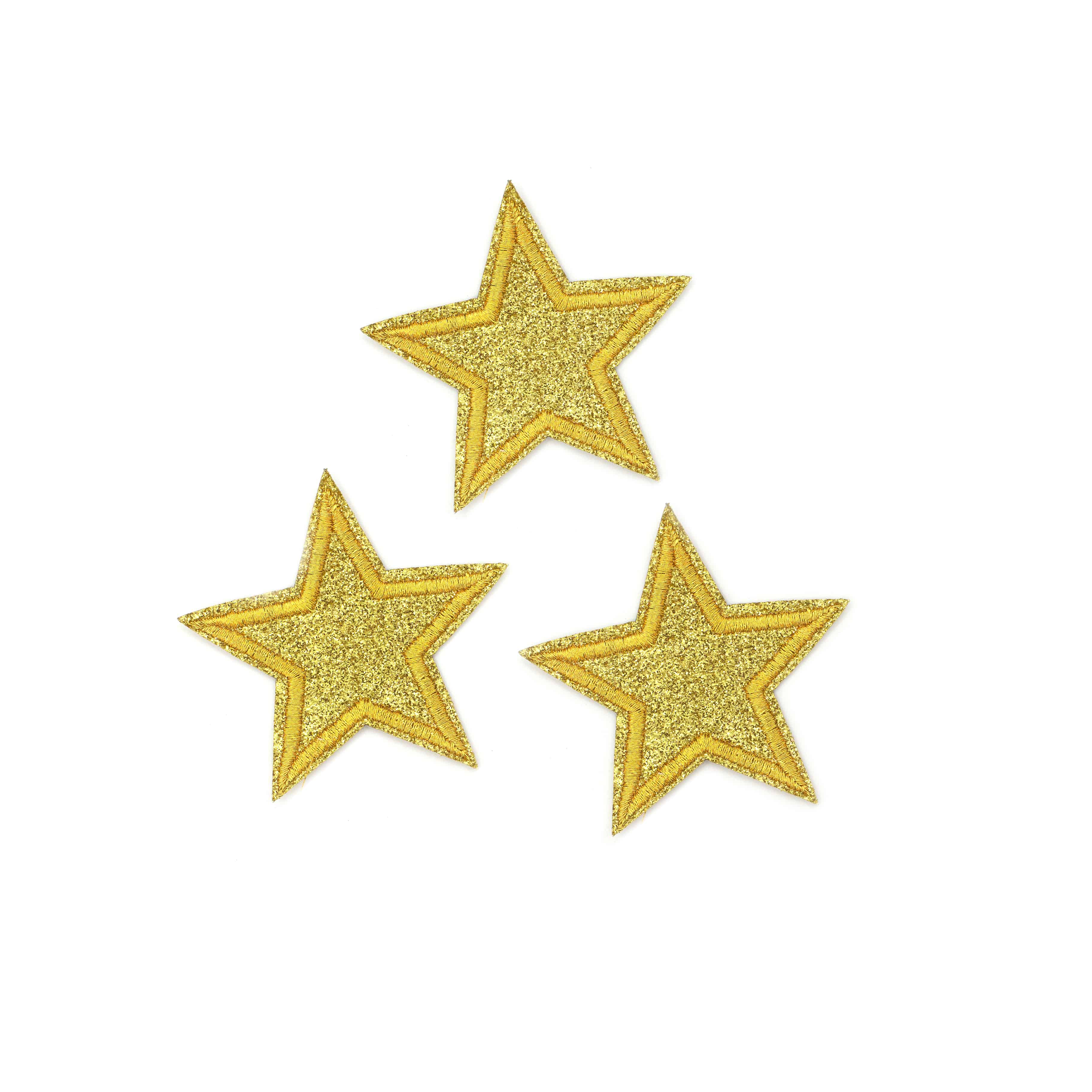 Embroidered Star Patch Appliques High Quality Patch Material can also be Sewn or Glued On Iron On Star Patches